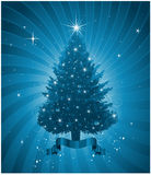 Blue Christmas tree background Stock Image