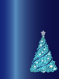 Blue Christmas tree background Stock Photography