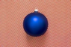 Blue Christmas tree Christmas ball. On an abstract background Stock Photos