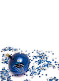 Blue christmas-tree decorations Royalty Free Stock Photo