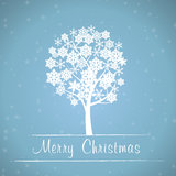 Blue christmas tree frame Stock Image