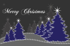 Blue christmas tree royalty free stock images