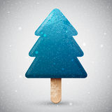 Blue Christmas tree ice cream Royalty Free Stock Photos