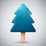 Blue Christmas tree ice cream Royalty Free Stock Photos