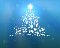 Blue Christmas Tree illustration Stock Photo