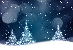 Blue Christmas tree illustration Stock Image