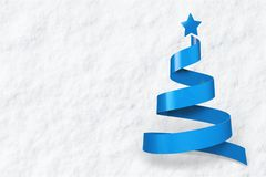 Blue christmas tree isolated on white background. Blue christmas tree leisure red white background Royalty Free Stock Image