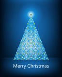 Blue Christmas tree Stock Images