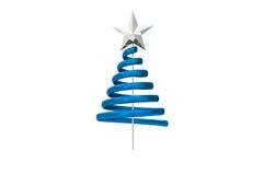 Blue christmas tree spiral design. On white background Royalty Free Stock Photos