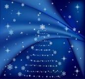 Blue Christmas tree vector Stock Photo