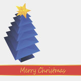 Blue Christmas tree Royalty Free Stock Image