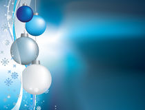 Blue christmas twinkle background Royalty Free Stock Photos