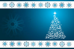 Blue Christmas vector background Stock Images