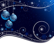 Blue Christmas vector illustration. Blue abstract Christmas  illustration Stock Images