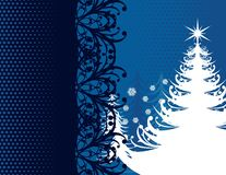 Blue Christmas wallpaper Stock Photos