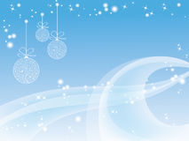 Blue christmas wallpaper Stock Images