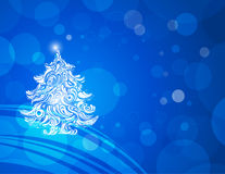 Blue christmas wallpaper backgrounds Royalty Free Stock Image