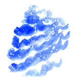 Blue christmas watercolor background Royalty Free Stock Image