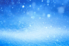 Blue Christmas Winter landscape with falling snow Stock Photography