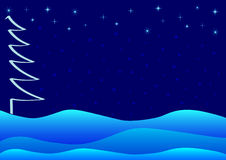 Blue Christmas or winter theme Stock Image