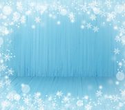 Blue Christmas wooden background. The blue Christmas wooden background Stock Images