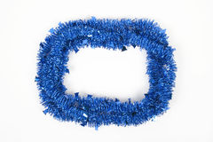 Blue christmas wreath isolated on white background Royalty Free Stock Photos