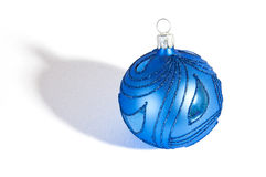 Blue Christmass ball Stock Photo