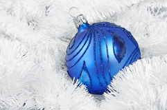 Blue Christmass ball Royalty Free Stock Images