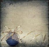 Blue christmass ball and ribbon Stock Image