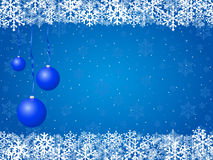 Blue Christnas background Royalty Free Stock Image