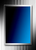 Blue and chrome Stock Images