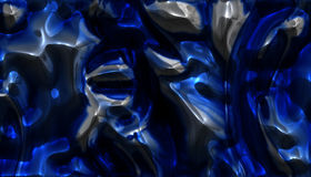 Blue Chrome Royalty Free Stock Photography
