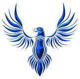 Blue Chromed hawk illustration Stock Photos