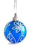 Blue chrsitmas ball isolated Royalty Free Stock Image
