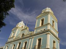 Blue church Stock Photo