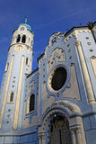 Blue church in Bratislava Royalty Free Stock Images