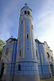 Blue church in Bratislava Stock Photography
