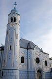 Blue church in Bratislava Stock Photo