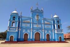 Blue Church. Christian church in Sri Lanka royalty free stock photos