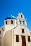 Blue Church Cupola in Santorini, Greece Royalty Free Stock Photography