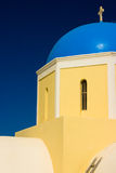 Blue Church Dome, Greece. The bright turquoise dome of a Greek Orthodox church in Santorini Royalty Free Stock Image