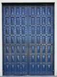 Blue church doors Royalty Free Stock Photos