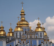 Blue church in Kiev Royalty Free Stock Photography