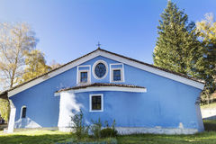 Blue church in the  Revival town of Koprivshtiza. Royalty Free Stock Photos