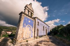 A blue church in volimes zakynthos. This beautiful image depicts a blue church in volimes zakynthos Stock Photos