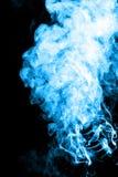 Blue cigarette smoke Stock Images