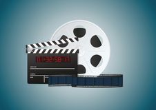 Blue cinema background Stock Photo