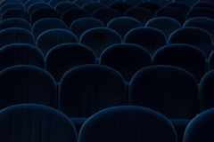 Blue cinema or theater seats Royalty Free Stock Images