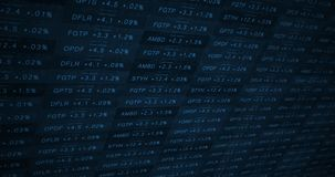 Blue cinematic increasing stock market ticker in a good economy alt royalty free illustration