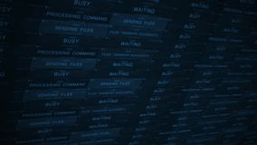 Blue Cinematic Increasing Stock Market Ticker in a good economy ALT - royalty free illustration
